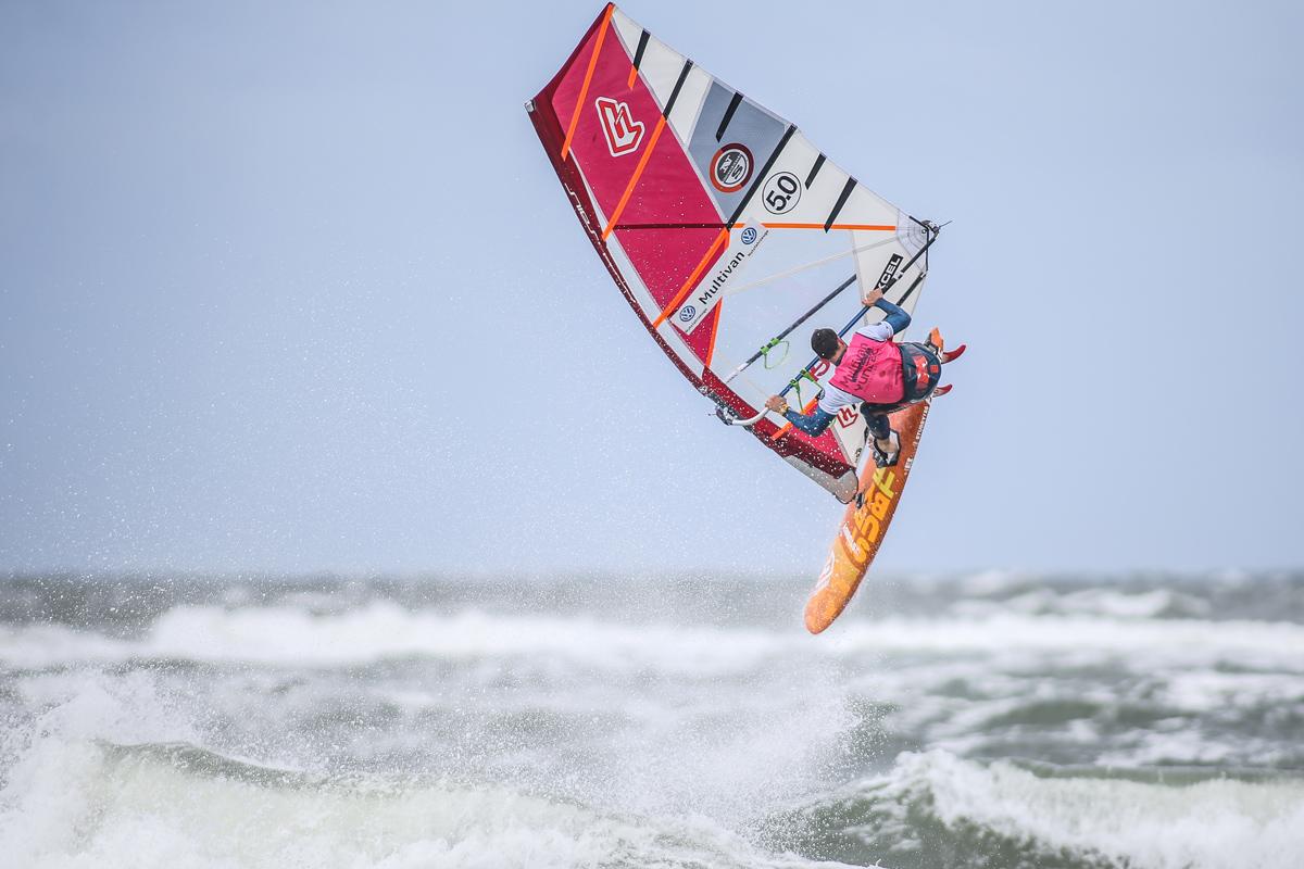 Max Droege flies through a Forward