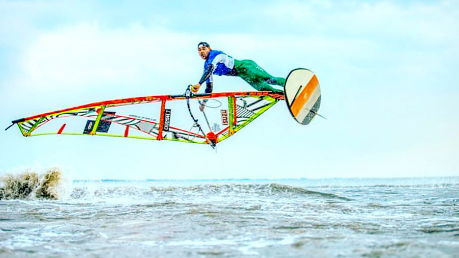 Tonky Frans trained some tow-in already (Pic: IFCA, Martin Reiter)