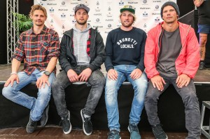 The top 4 riders in the wave event of the 2017 Summer opening on Sylt 2017