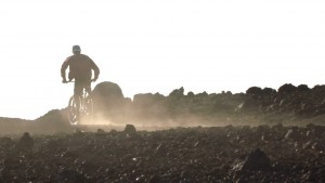 Kevin Pritchard rides the MTB on Maui