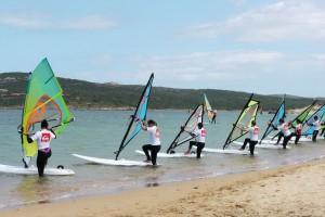 Beach start lesson in Sardinia