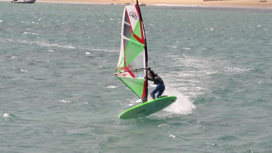 Air Jibe by Val Erzen on Sardinia