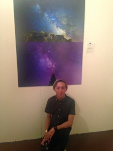 Dax presents his work at an exhibition