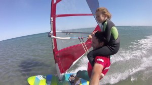 Leo Ray sails with kids Gruissan