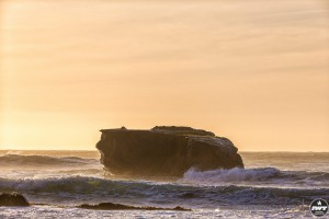 The beautiful Pacific Ocean at Matanzas, Chile
