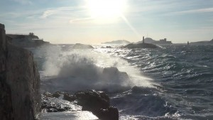 Marseille with waves