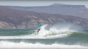 Sarah Hauser rips waves in Baja California