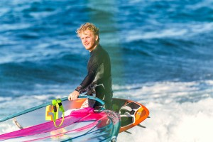 Justin Denel tests his new gear in Maui (Photo: Sofi Loewy)
