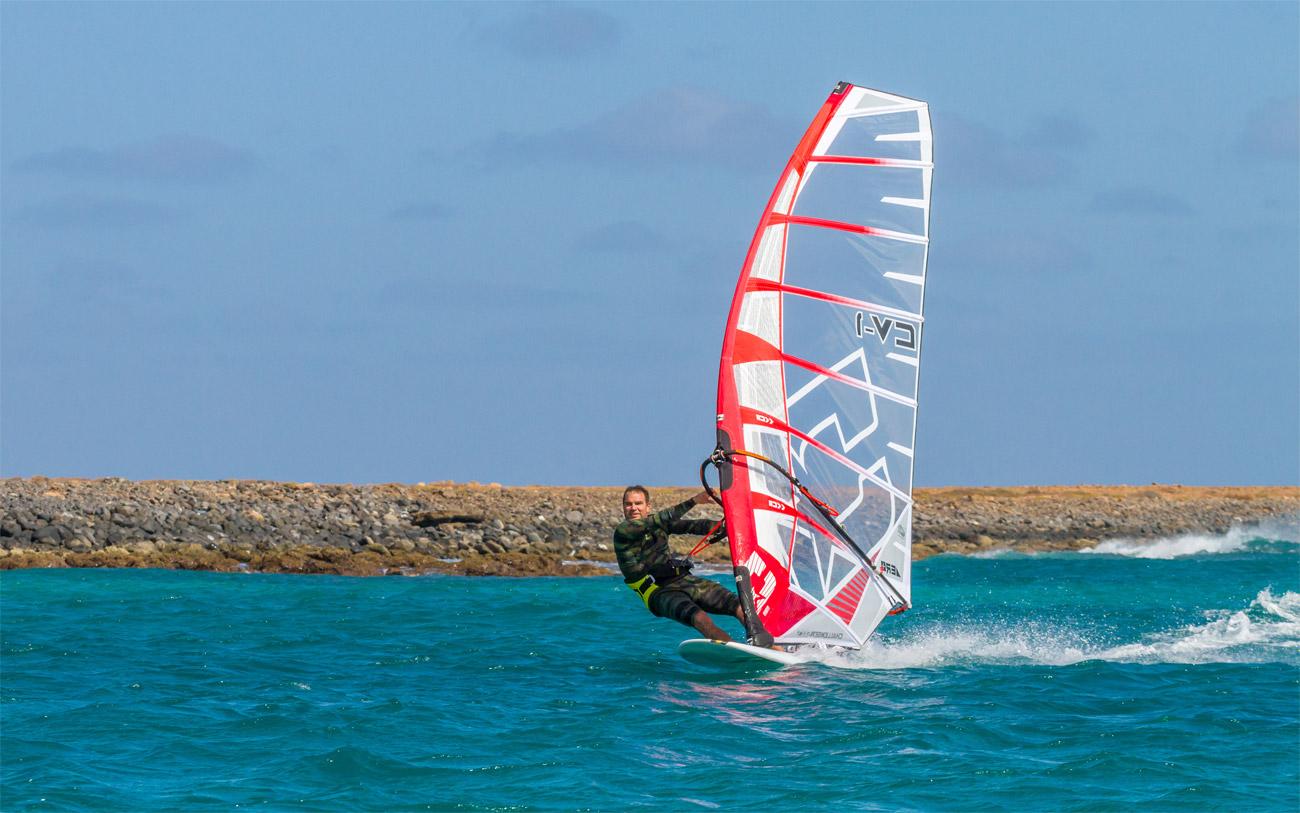 Josh Angulo freerides in Sal, Cape Verde