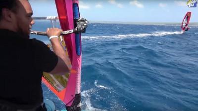 Freestyle windsurfer Kiri Thode in Klein Bonaire