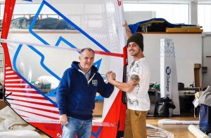 Austrian freestyler Paul Simmerl and Claudio Badiali from Challengersails