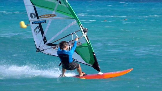 Getting into footstraps windsurfing