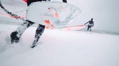 Winter windsurf