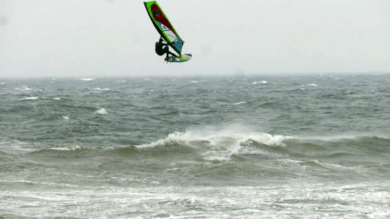 Holger Beer rides waves in Denmark and Germany