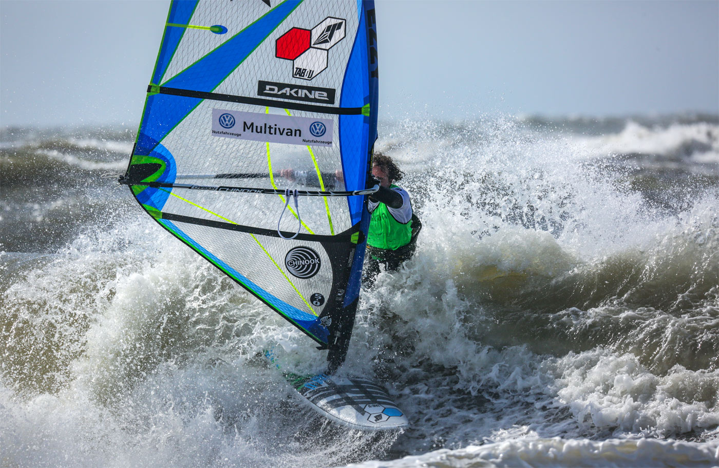 Graham Ezzy in the white water of Westerland (Photo by Lightnic)