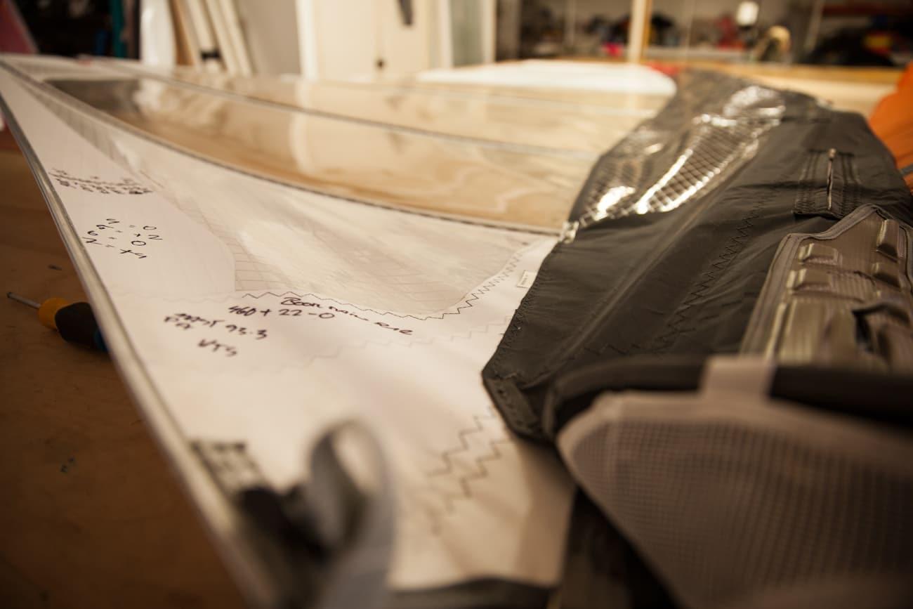 A Duotone windsurfing sail prototype