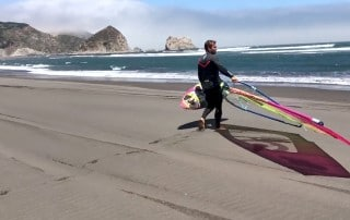 Robby Swift on the beach in Chile