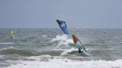Holger Beer and Manuel Vogel in action at the Baltic Sea