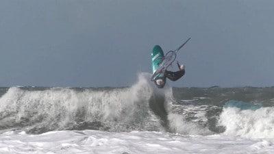 Balz Mueller in waves in Sylt in 2018