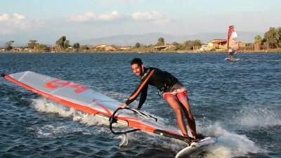 Greek freestyle windsurfing from Tsimari