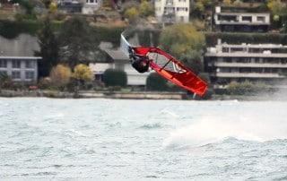 Balz Mueller in Switzerland in a storm