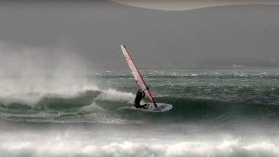Mathias Genkel rides Irish waves