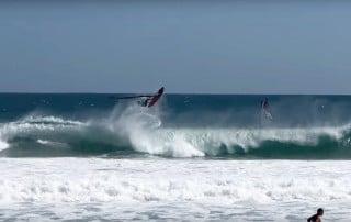 Ricardo Campello in the waves of Rio de Janeiro