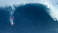 Kai Katchadourian rides Jaws in 2018