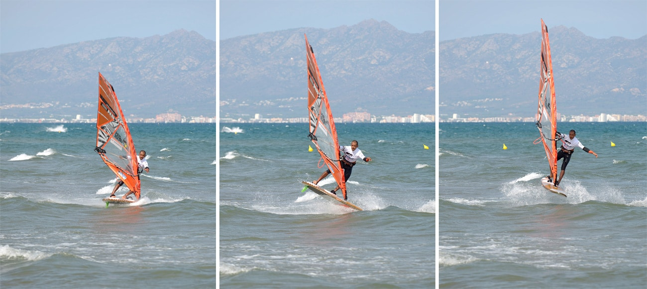 Tonky has created a unique style in freestyle windsurfing