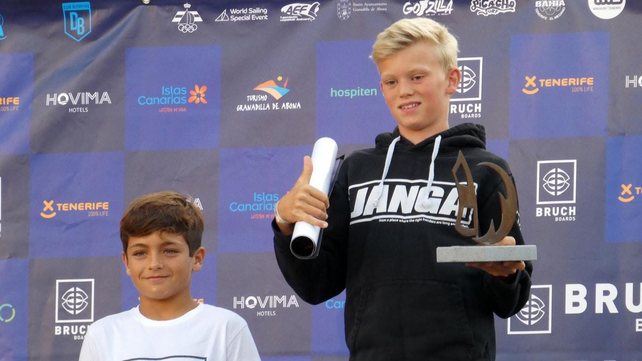 Tobias Bjørna won in the U-13 PWA wave category in Tenerife in 2018