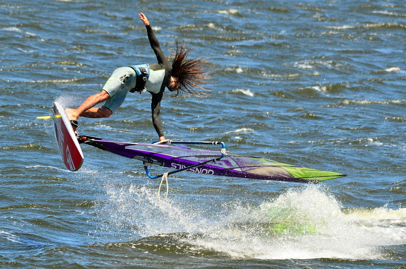 Dudu Levi at Rietvlei lake in the freestyle mode