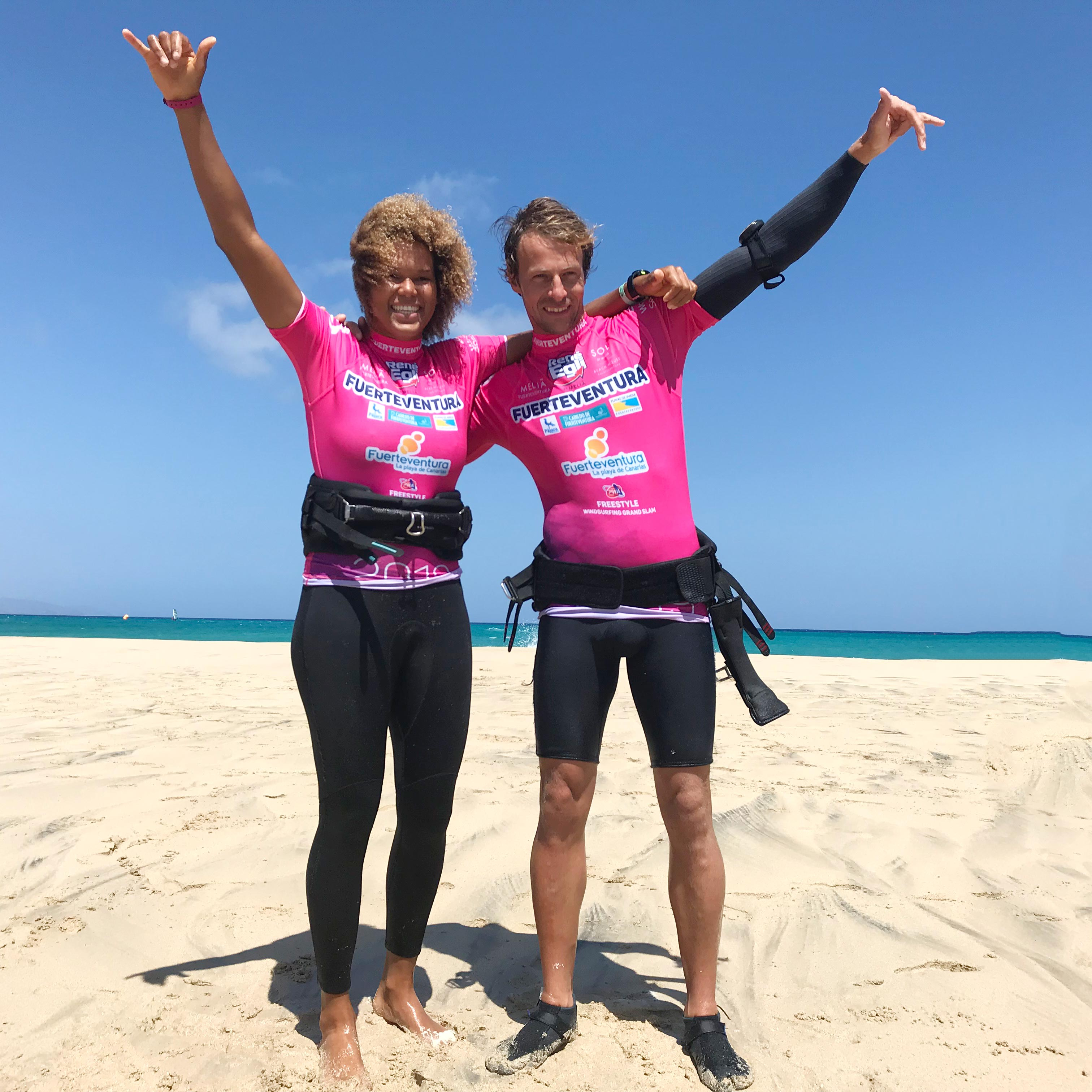 The winners of the single elimination - Sarah-Quita Offringa and Steven van Broeckhoven