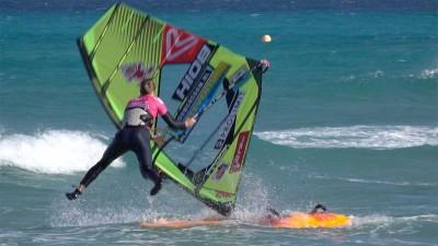 Windsurfing Catapult Crash by Maaike Huvermann
