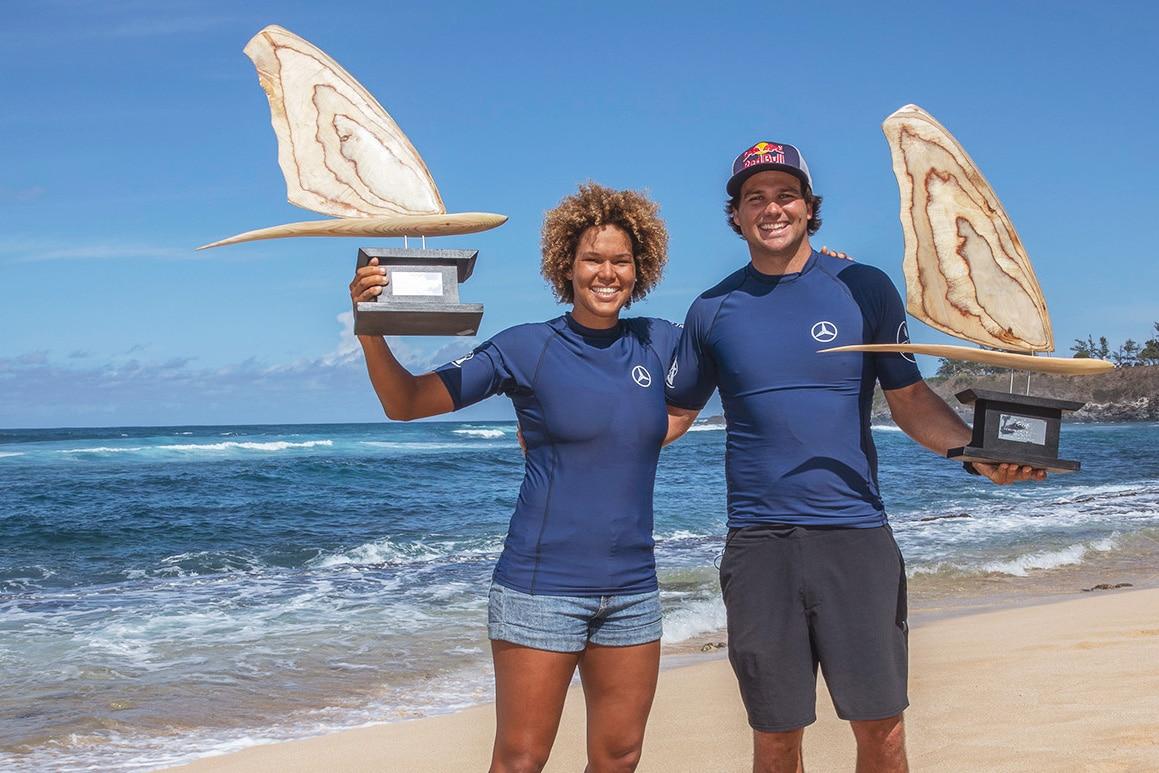 Sarah-Quita Offringa & Philip Köster are the 2019 PWA Wave Champions - Pic: PWA/J. Carter