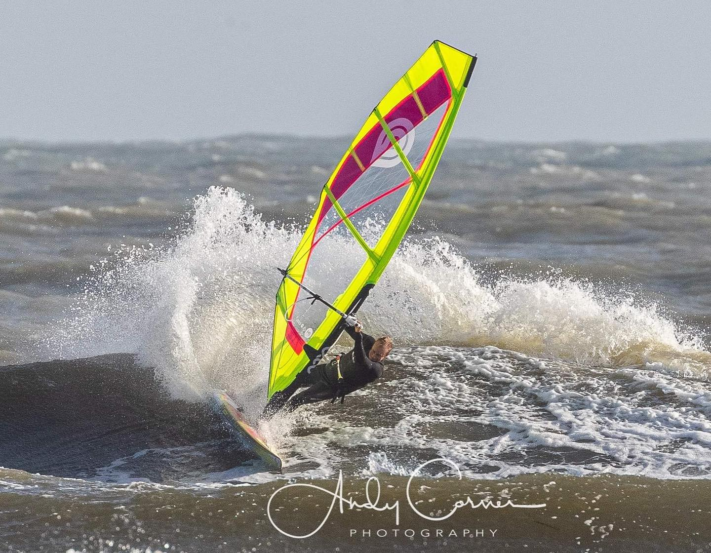 """Andy """"Bubble"""" Chambers has fun riding with his new gear in British waters"""