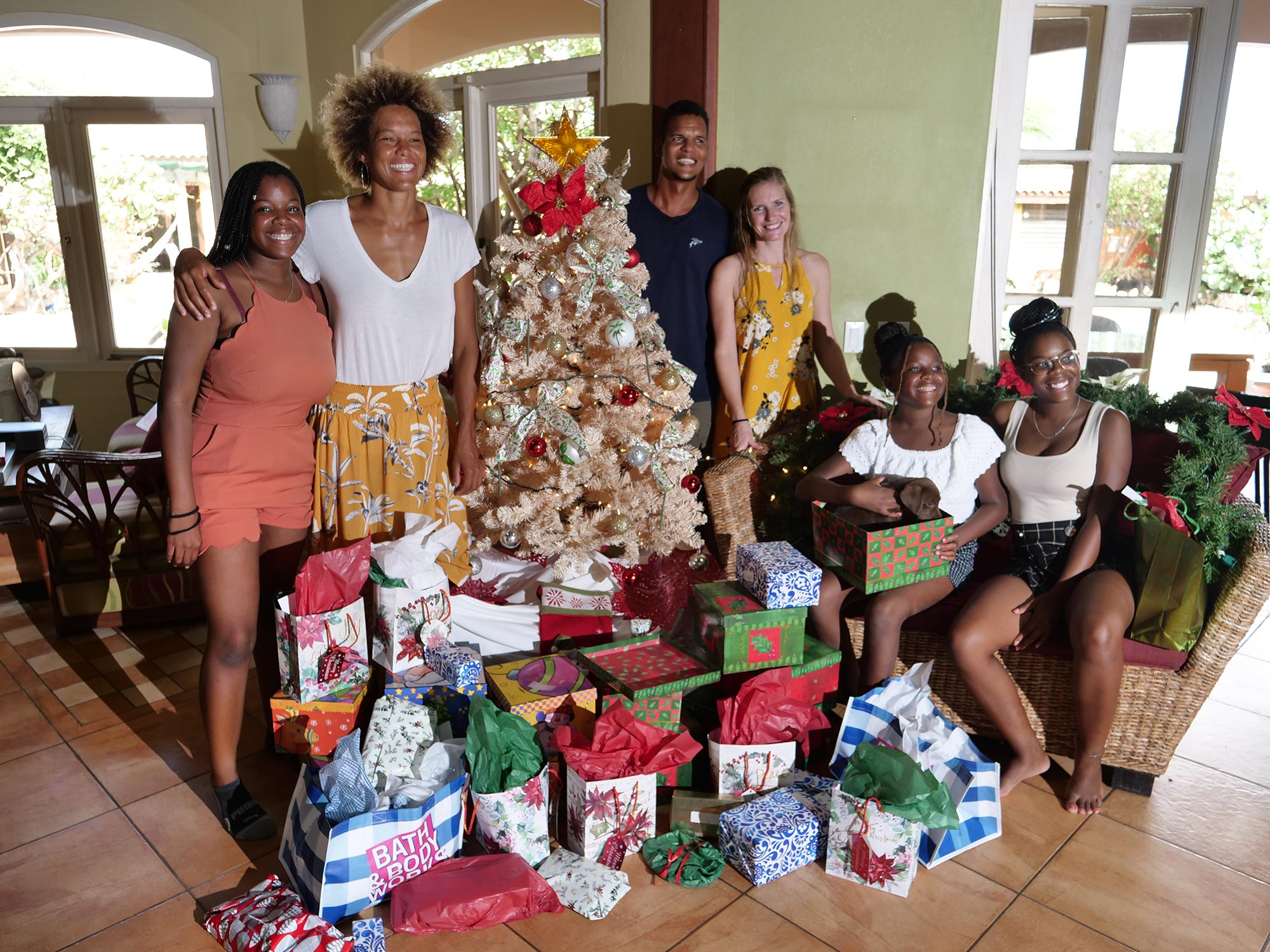Christmas with the family for Sarah-Quita Offringa
