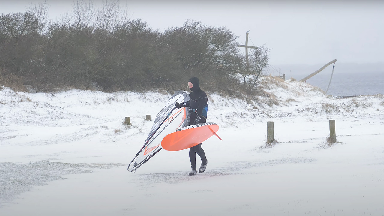 Maaike Huvermann in the snow