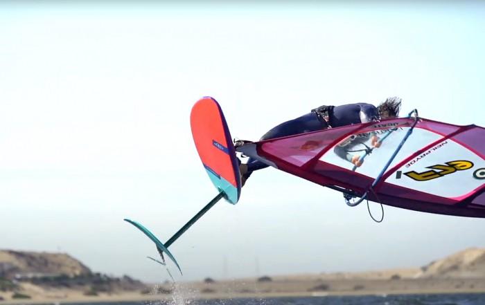 Sam Esteve on the wind foil in Dahkla