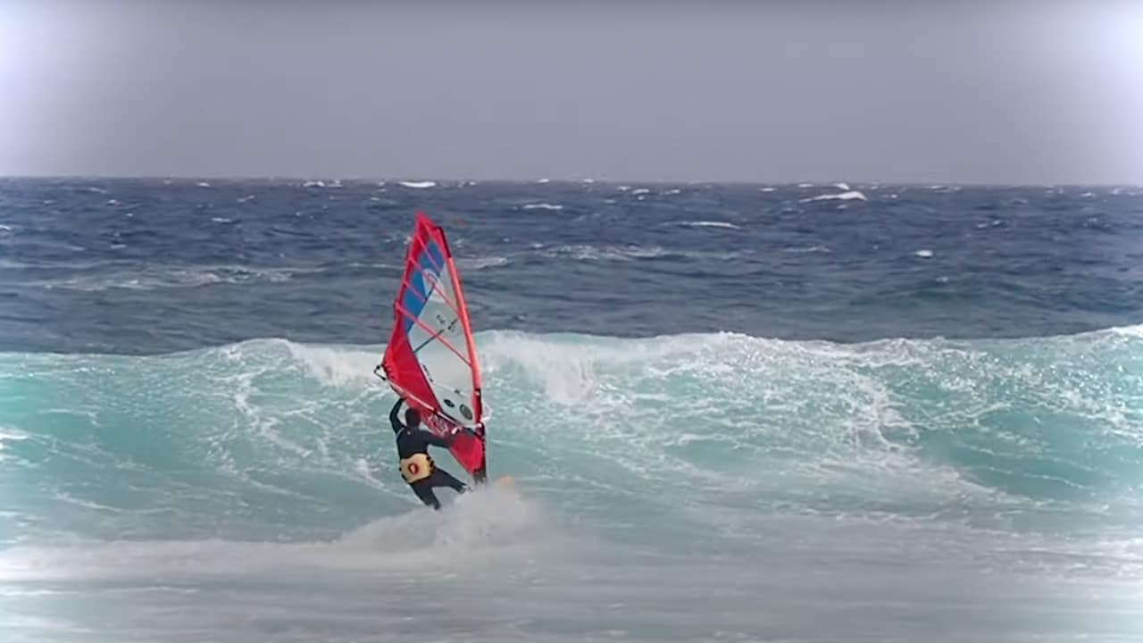Antoine Albert from GranCanaria with surf and freestyle