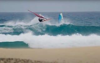 Federico Morisio nails an Aerial off the lip in El Burro in Fuerteventura