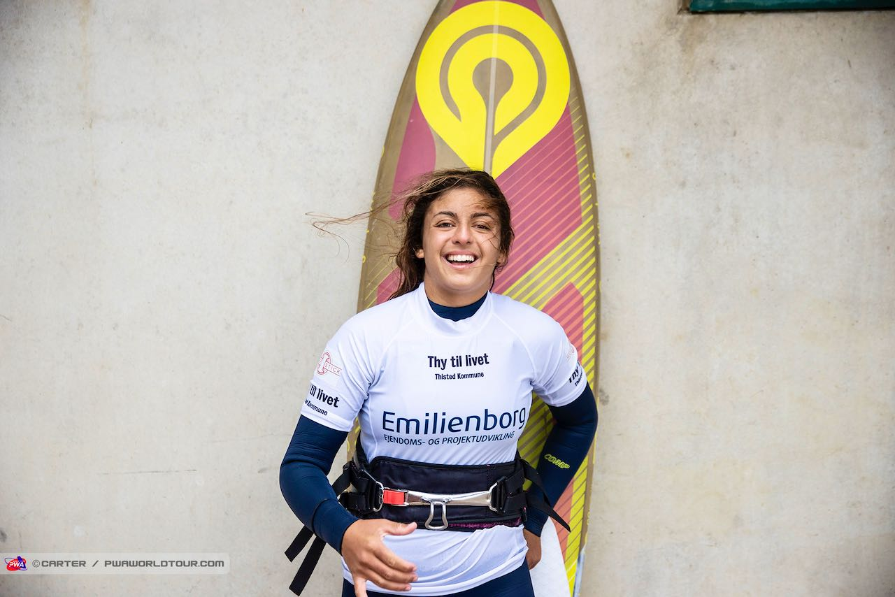 Maria Morales wins the competition (Photo: Carter/PWAworldtour)